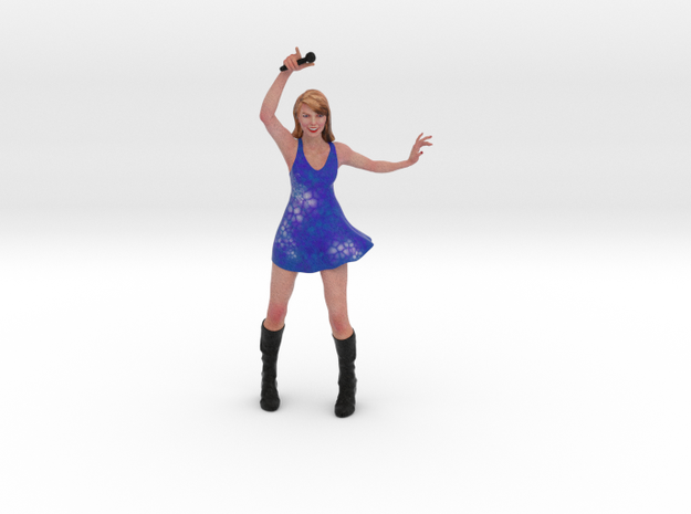 Taylor Swift 3D Model ready for 3d print in Full Color Sandstone