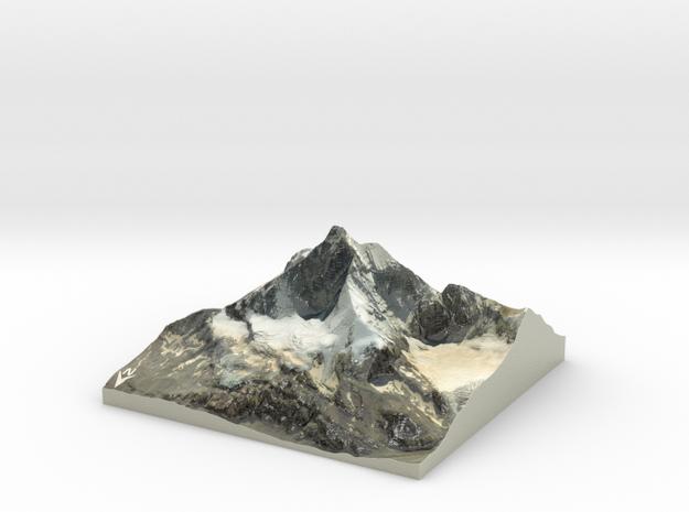 "Matterhorn / Monte Cervino Map: 9"" (22.8 cm) in Coated Full Color Sandstone"