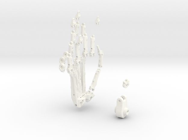 Animatronik Hand rechts in White Strong & Flexible Polished