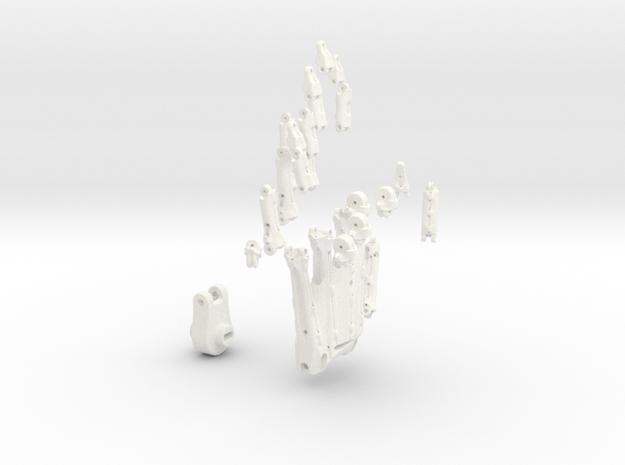 Animatronik Hand links in White Processed Versatile Plastic