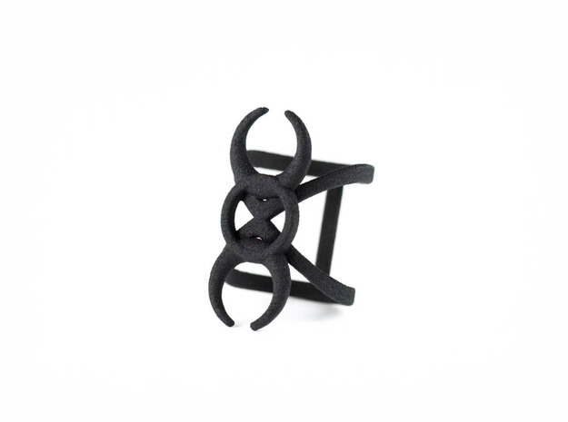 Hecate Ring in Black Natural Versatile Plastic: 6 / 51.5
