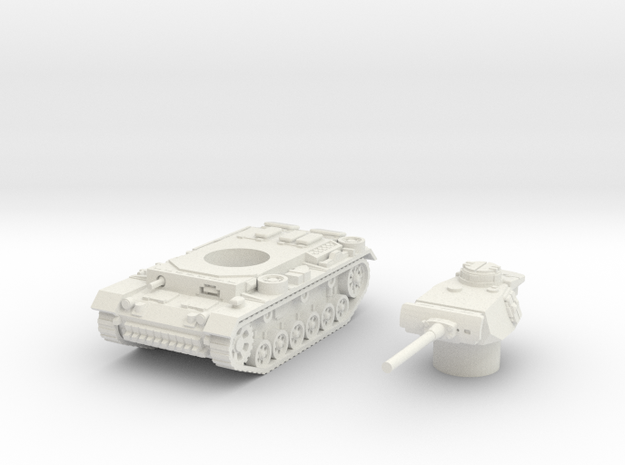 Panzer III L (Germany) 1/100 in White Natural Versatile Plastic