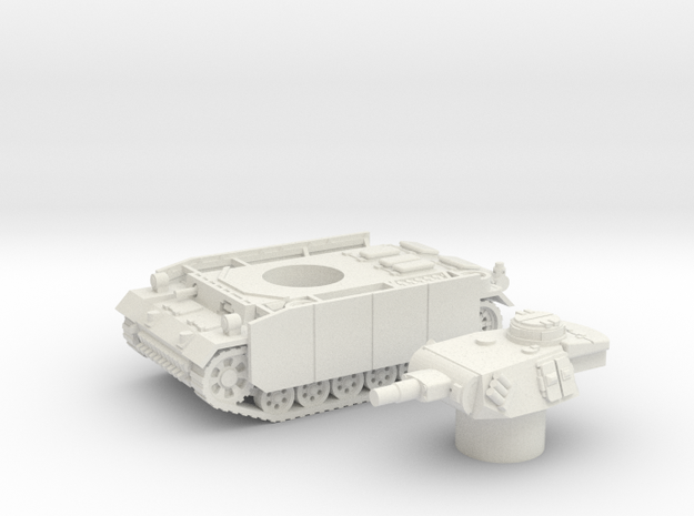 Panzer III tank M (Germany) 1/144 in White Natural Versatile Plastic