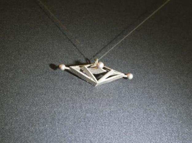 AlmaguerA8Shapeways Sculpture  Pendant 3d printed Photo of actual object printed in stainless steel.