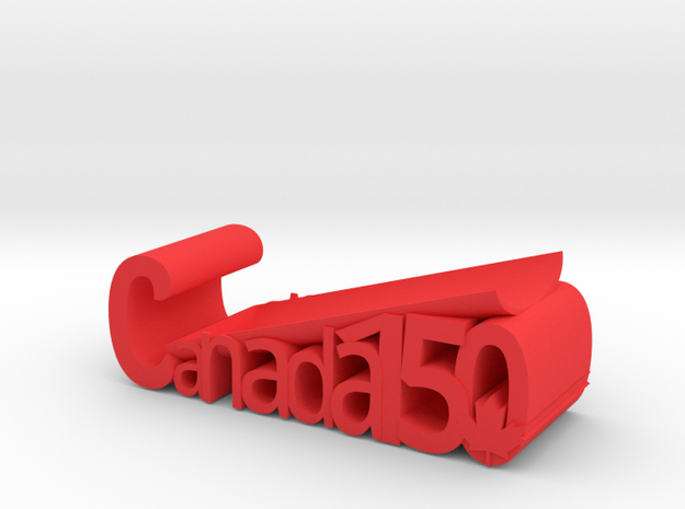 Canada 150 Spoon rest in Red Processed Versatile Plastic