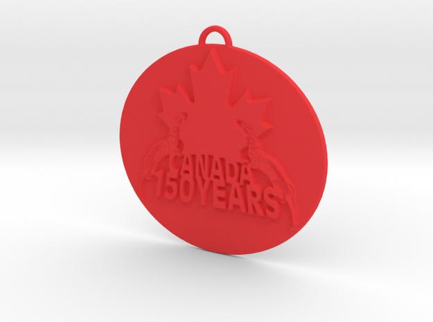 150 Years Canada in Red Processed Versatile Plastic: Medium