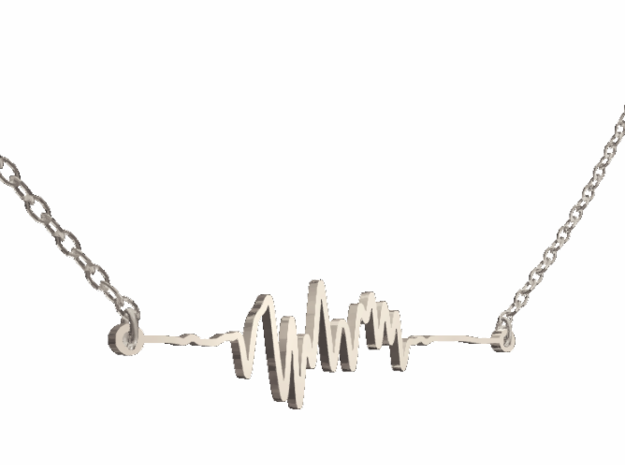 #4 - Soundwave Horizontal - Polished Silver in Polished Silver