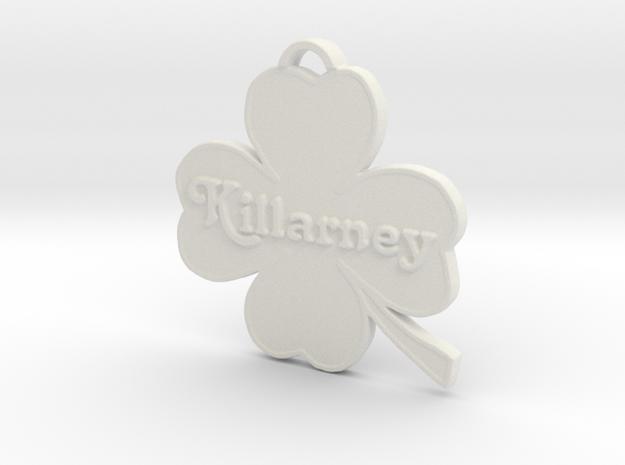 Killarney in White Natural Versatile Plastic: Medium