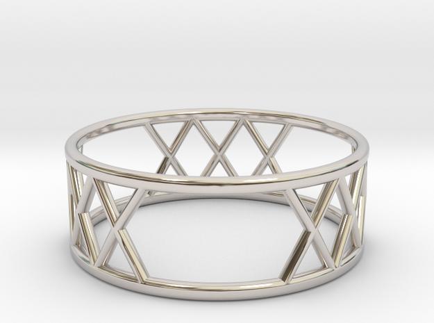 XXX Ring SIZE-9 in Platinum