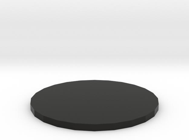 Fidget Spinner Bearing Press Offset Plate (1mm) in Black Natural Versatile Plastic