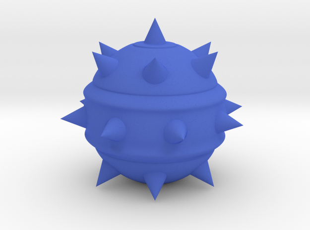 High-Poly Stickybomb (Hollow) in Blue Processed Versatile Plastic: Medium