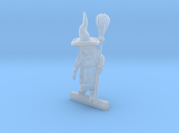 Walking WITCH with Broomstick 28mm miniature