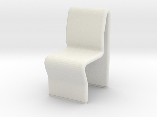 Ten Forward Chair (Star Trek Next Generation) in White Natural Versatile Plastic: 1:30