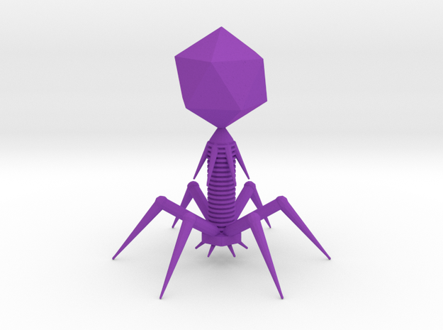 Bacteriophage in Purple Strong & Flexible Polished