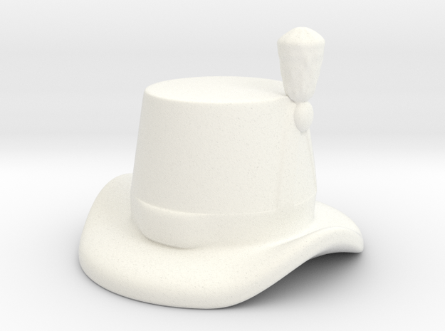 British Royal Marine Hat  in White Processed Versatile Plastic