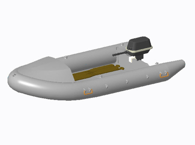 Schlauchboot Typ-B in 1:40 in Frosted Ultra Detail