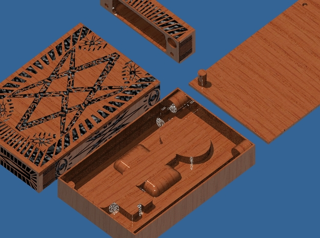 Supernatural Men of Letters Box (pivoting lid) 3d printed