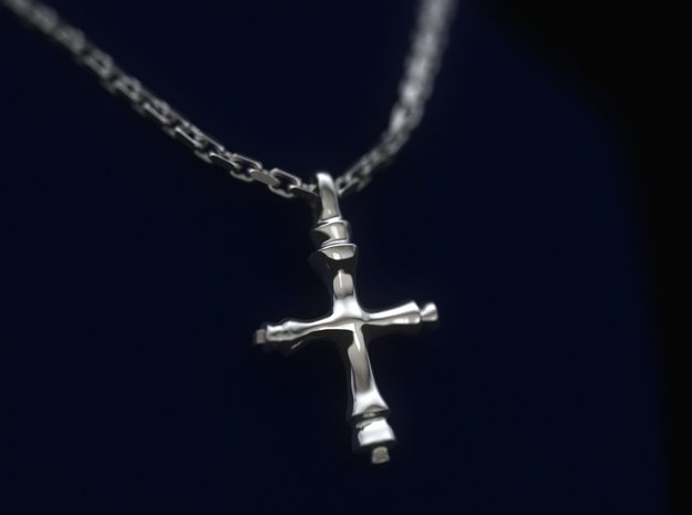 Medieval Cross from England 9th-12th century AD in Polished Silver