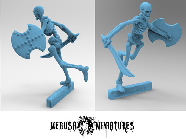 28mm Harryhausen-style SKELETON mini in Smooth Fine Detail Plastic