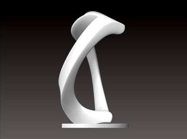 Desktop Sculpture (6.8cm) in White Strong & Flexible