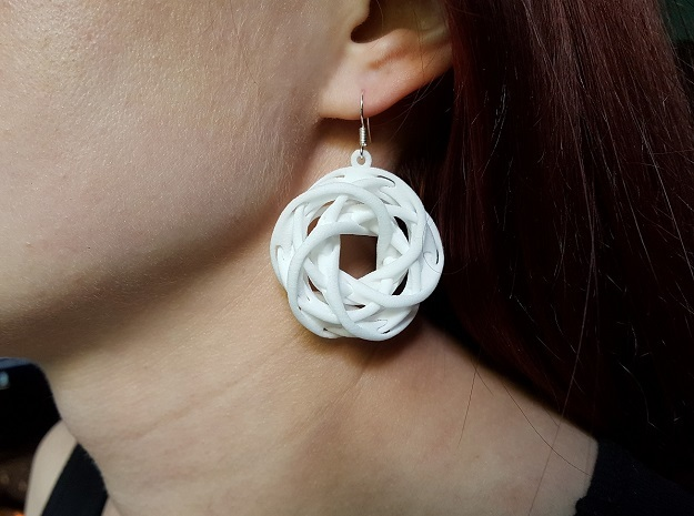 Interlocked tori earrings