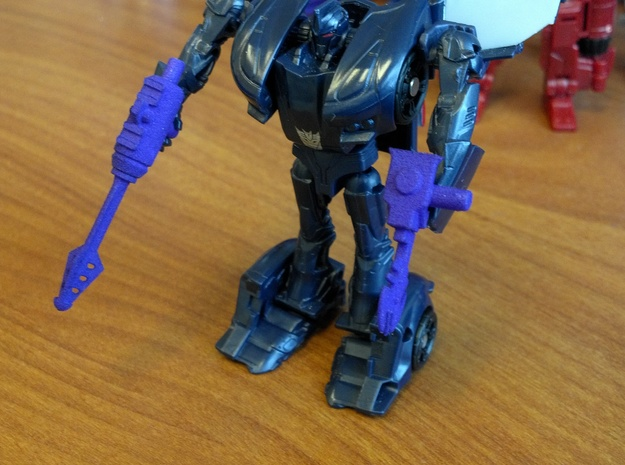 3mm TFSS Barricade Weapons in Purple Strong & Flexible Polished