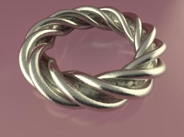 Artistic Ring Twisted 01 3d printed Artistic Ring Twisted 01