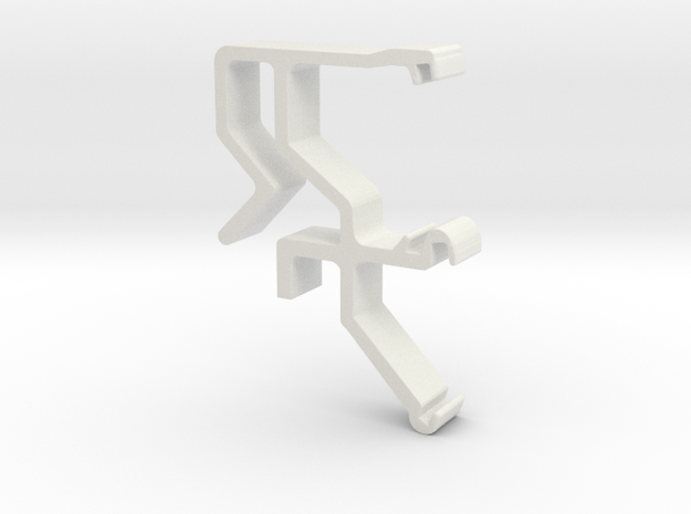 Blind Valance Clip 07 in White Natural Versatile Plastic