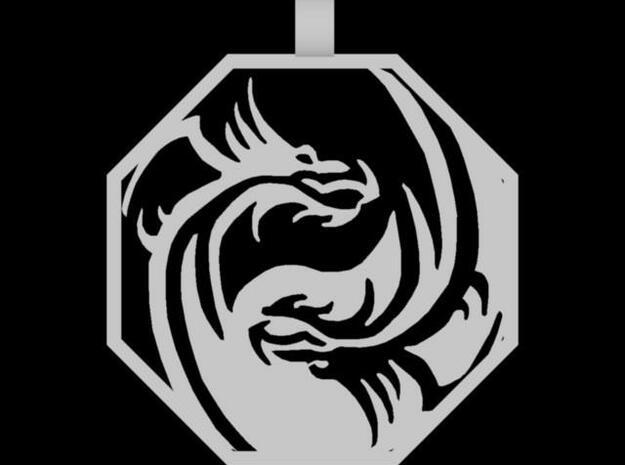 Dragon Pendant (Octagon) 3d printed Description