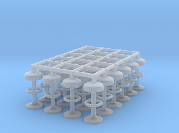50's soda fountain bar stool 01. HO Scale (1:87)