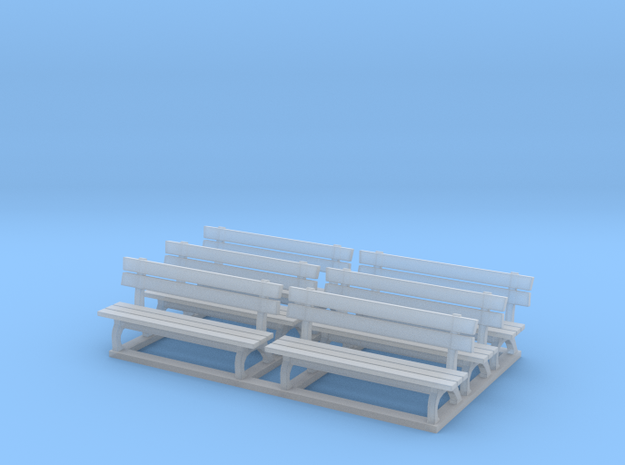 Park bench 01. HO Scale (1:87)