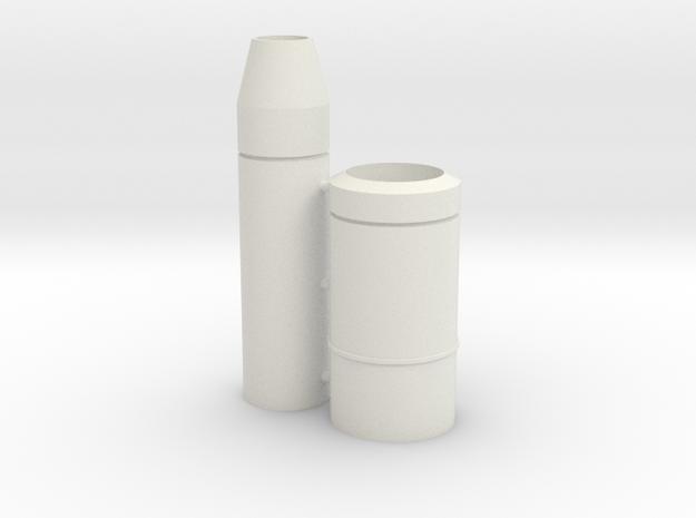 1/16 Brummbar Barrel (Mid Production) in White Natural Versatile Plastic