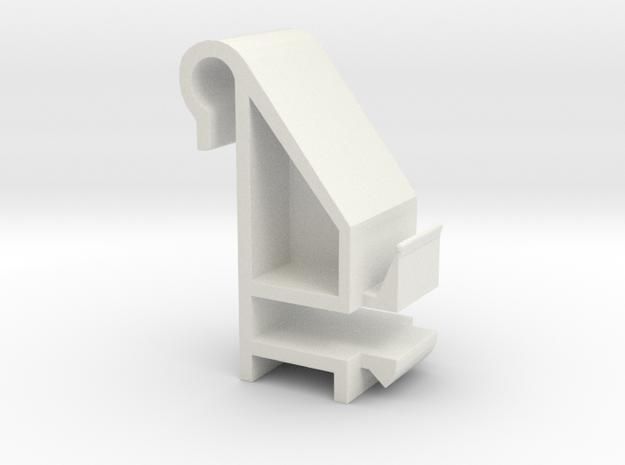 Blind Valance Clip 09S in White Natural Versatile Plastic