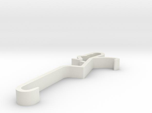 Blind Valance Clip 00149 in White Natural Versatile Plastic