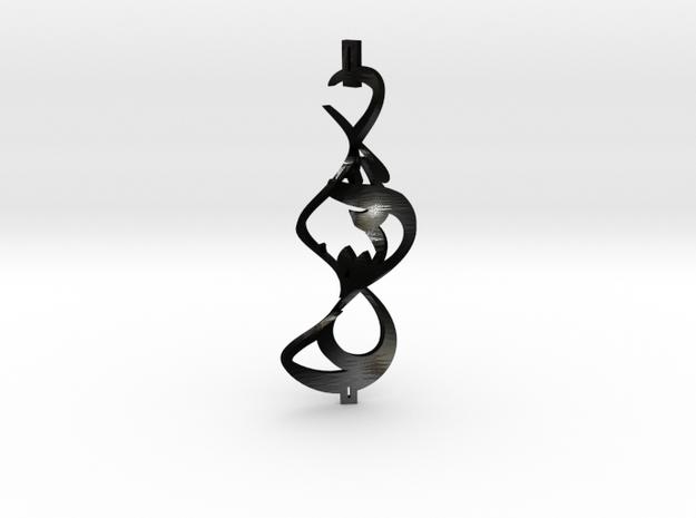 N5 - 012 (Twisted - Matte Steel) in Matte Black Steel