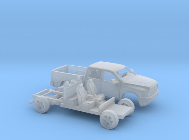 1/87 2009-Present Dodge Ram Crew Cab Kit in Smooth Fine Detail Plastic