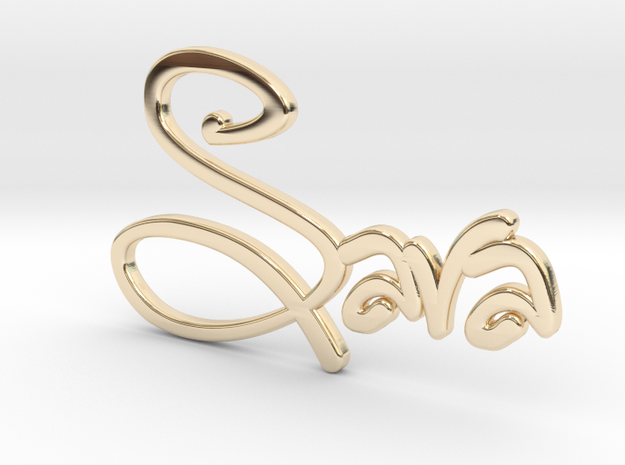 Names: Sara (customizable) in 14k Gold Plated