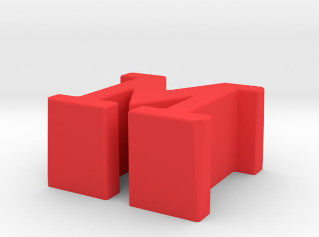"""7"""" Single 'The Monsters M' Adapter in Red Strong & Flexible Polished"""