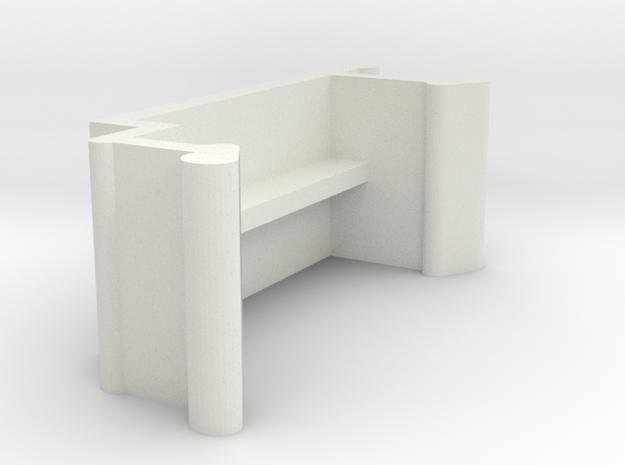 Blind Valance Clip 10A in White Natural Versatile Plastic