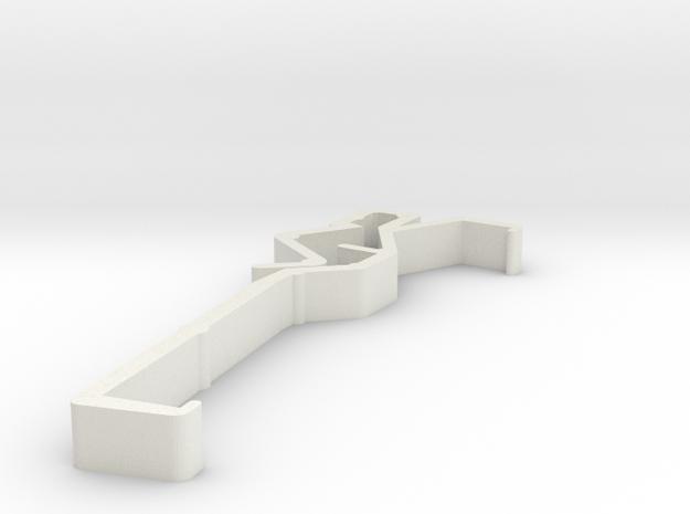 Blind Valance Clip 00152 in White Natural Versatile Plastic