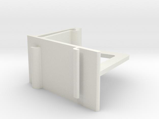 Vertical Valance Clip Louverdrape 019 in White Natural Versatile Plastic