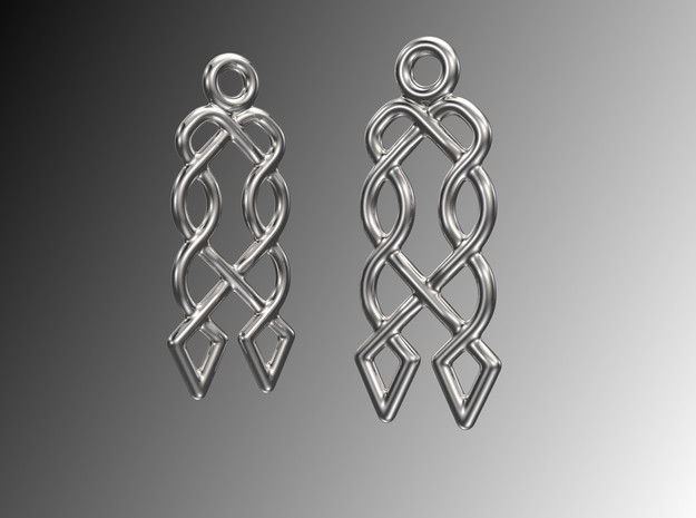 Celtic Weave Earrings - WE027 in Polished Silver