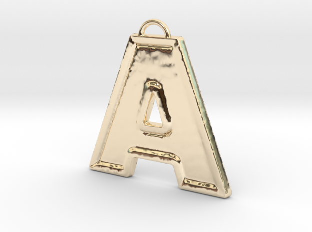 A Pendant in 14k Gold Plated Brass