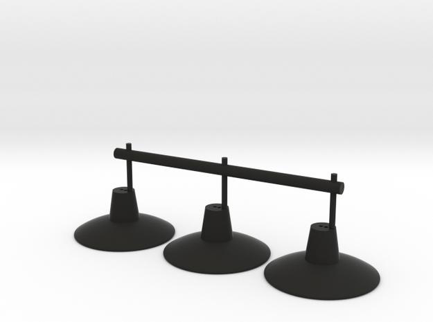Lampadaires X3 Ech 1/43.5 O in Black Strong & Flexible