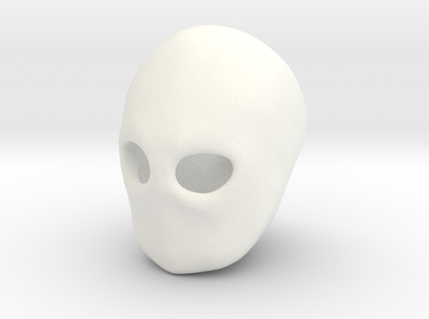 """""""Blank Face"""" BJD head sculpting aid MSD size FRONT in White Processed Versatile Plastic"""