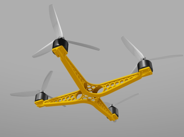 BUTTERFLY QUADCOPTER in White Strong & Flexible