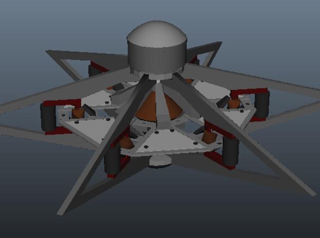 Otc Sheet3 3d printed View of outer frame surrounding inner disk