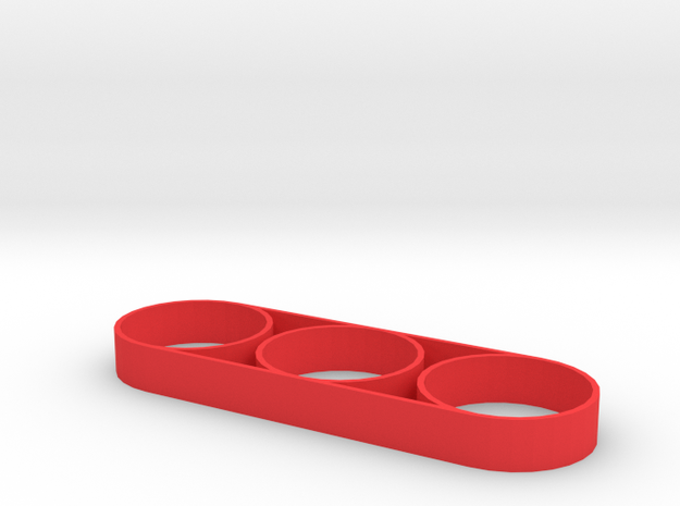 """Fidget Spinner """"Double The Fun"""" in Red Processed Versatile Plastic"""