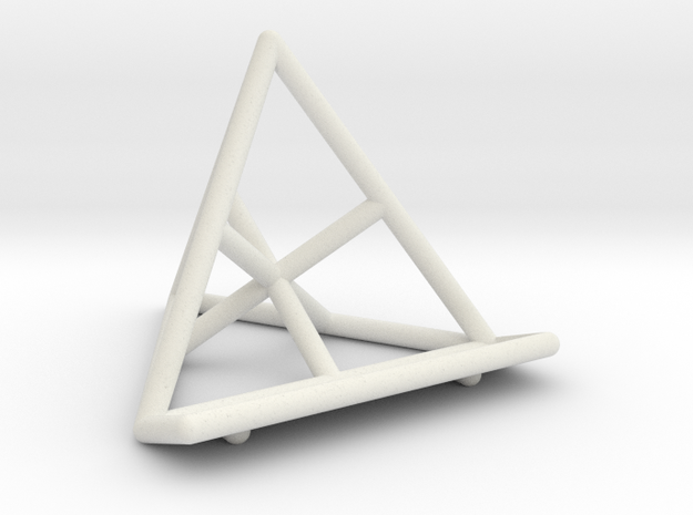 Tetrahedral Business Card Holder in White Natural Versatile Plastic