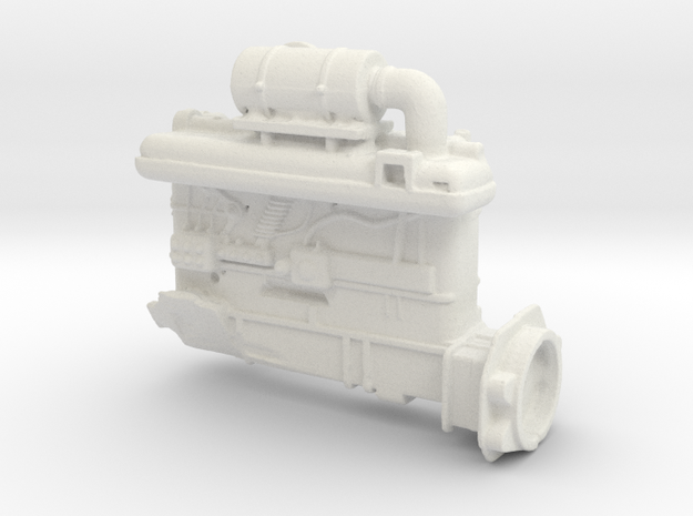 Diesel engine in White Strong & Flexible